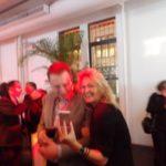 Martina shows Elon Musk the purple decor
